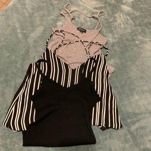 Top shop and other brands dress/shirt bundle